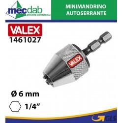 "Mandrino Autoserrante Attacco Esagonale Ø 6 mm 1/4"" Valex 1461027"