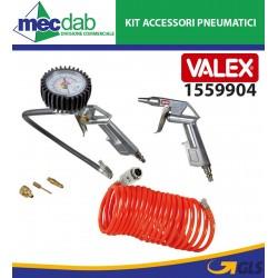Kit Accessori Pneumatici Per Compressore 3 + 3 Pistola e Tubo Con Raccordi Valex 1559904