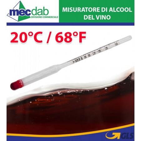 Tester Alcometro Misuratore Livello di Alcol Nel Vino 20° C.
