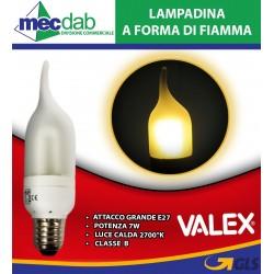Lampadina Luce Calda a Forma di Fiamma 7W Attacco Grande E27 Valex