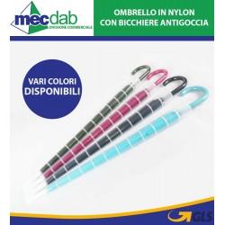 Ombrello Unisex Con Bicchiere Antigoccia Vari Colori