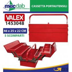 Cassetta Portautensili Estendibile in Metallo 5 Vani Valex 1453048