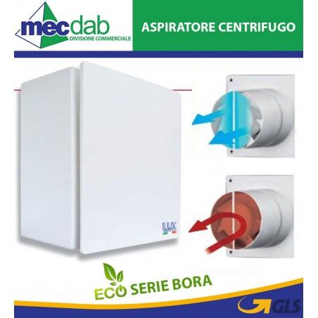 Aspiratore Centrifugo a Parete Estrattore Aria Bagno Serie Bora 80 - 100 Lux 800