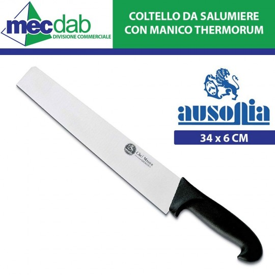 Coltello da Salumiere 34 x 6 Cm in Acciaio Inox con Manico Thermorum