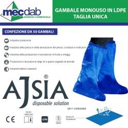 Copriscarpe Gambale Monouso in LDPE Taglia Unica 50 Pezzi Ajsia 14044