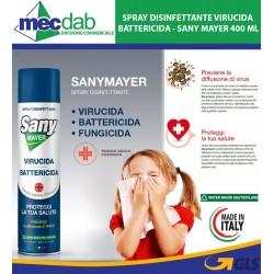 Spray Disinfettante Virucida Battericida Made in Italy - Sany Mayer 400 Ml