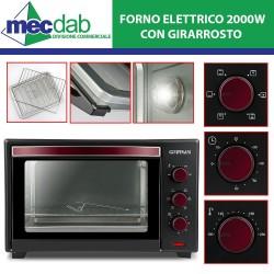 Forno Elettrico Ventilato con Girarrosto 42L - 2000W  Il Moro 42 Ferrari