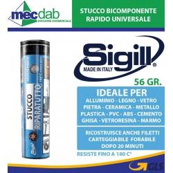 Stucco Riparatutto Bicomponente Universale 56 Gr. Resistente al Calore Sigill