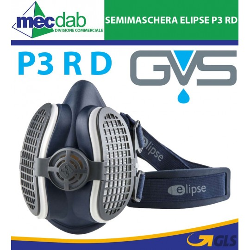 Semimaschera Respiratoria P3 R D GVS HEPA Per Filtri M/L