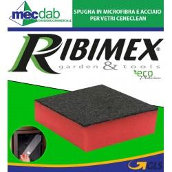 Spugna in Microfibra e Acciaio Per Vetri Ceneclean PRCENGL/SP Ribimex