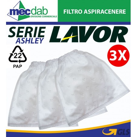 Filtro Aspiracenere Lavor Serie Ashley  3 Panni Originali