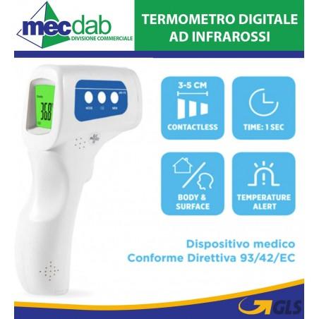 Termometro Digitale a Distanza Misuratore Temperatura ad Infrarossi