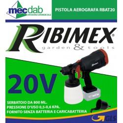 Pistola Aerografa 20V - Senza batteria e caricabatteria RBAT20 Ribimex
