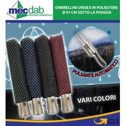 Ombrellini Unisex in Poliestere Ø 97 Cm con Pulsante Automatico Apri e Chiudi Vari Colori