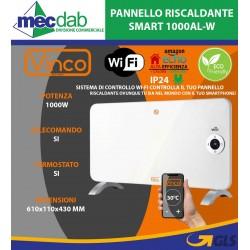 """Pannello Riscaldante Smart WIFI """"ECOQUADRO"""" Pitturabile PN 1000AL-W Vinco"""