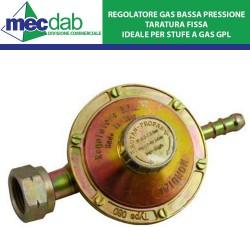Regolatore Bombola a Gas GPL Bassa Pressione Taratura Fissa Mondial