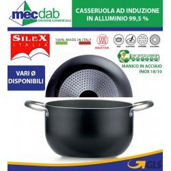 Casseruola Antiaderente Doppio Fondo in Alluminio Ad Induzione e Fiamma Silex