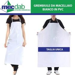 Grembiule da Macellaio in PVC Bianco Taglia Unica