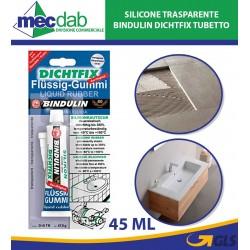 Silicone Trasparente  Bindulin Dichtfix Tubetto da 45 ml