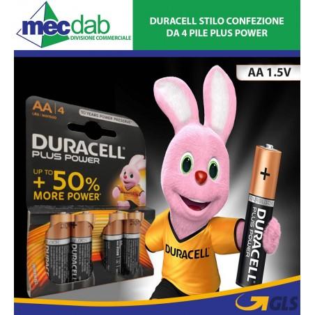 Duracell Stilo AA 1.5V Confezione da 4 pile Plus Power LR6/MN1500