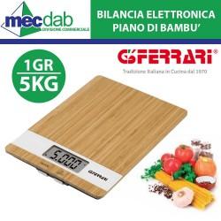 Bilancia Elettronica di Precisione 1GR/5Kg Con Display LCD e Piano di Bambù