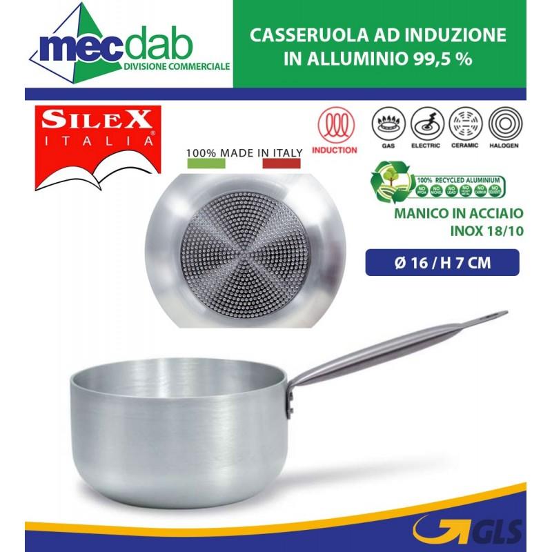 Casseruola Ad Induzione In Alluminio Con Manico In Acciaio Siles Kitchen chef Varie Dimensioni