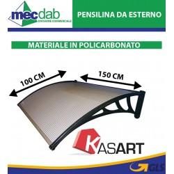 Pensilina Da Esterno 100 x 150 Cm Modulabile Materiale In Policarbonato Kasart 104806