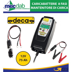 Caricabatterie Automatico Mantenimento a 8 Fasi di Ricarica 12V 75 Ah SM 1236 EVO