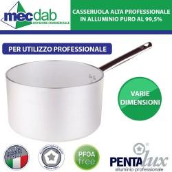 Casseruola Alta in Alluminio Professionale Con Manico in Acciaio Pentalux