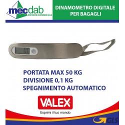 Dinamometro Digitale per Bagagli Portata Max 50 Kg 1870017 Valex