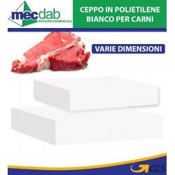 Ceppo In Polietilene Bianco Per Carni Varie Dimensioni Disponibili