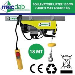 Paranco Verricello Elettrico 18 MT 1200W Montacarichi 400/800 Kg Lifter400/800