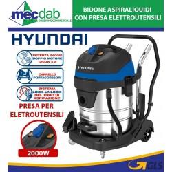 Bidone Aspiraliquidi 60 LT Con Presa Elettroutensili 2400W Hyundai BJ141A-2400-60