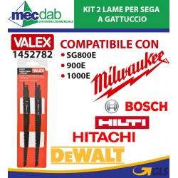 Lama Per Sega a Gattuccio Per Legno 230 mm Kit 2 Pezzi Valex 1452782
