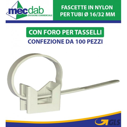 Fascette Per Tubi Con Fissaggio a Muro Ø 16/32 mm Elmatic 565510