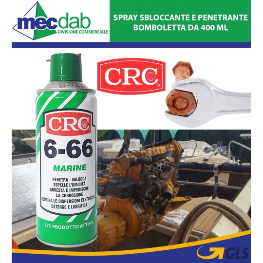 Lubrificante Anticorrosivo Multiuso Spray 400 ML CRC Marine 6-66
