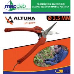 Forbici per il Raccolto in Acciaio Inox con Manico Plastica Ø 3 ,5 Cm 1281 - Altuna