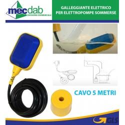 Galleggiante Elettrico Per Elettropompe Sommerse Con Cavo 5 Metri