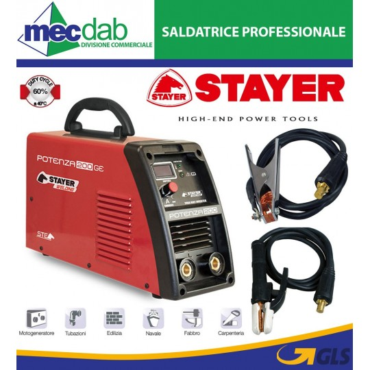 Saldatrice Professionale Stayer Potenza 200 GE 200 A