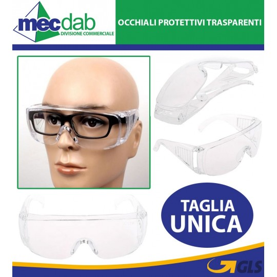 Occhiali Di Protezione Trasparenti e Sovrapponibili Lente Incolore