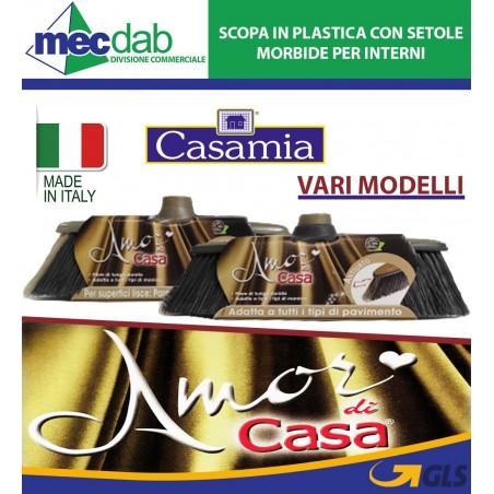 Scopa in Plastica con Setole Morbide per Interni Casamia Vari Modelli
