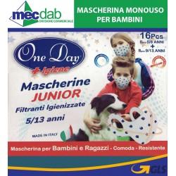 Mascherina Monouso per Bambini 5/13 Anni Filtrante igienizzante Junior One Day
