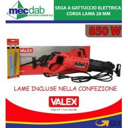 Sega a Gattuccio Elettrica 850 Watt Corsa Lama 28 mm VALEX M-SGG18