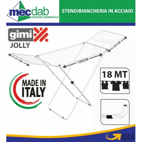 Stendibiancheria Estendibile in Alluminio 18 MT Gimi Jolly