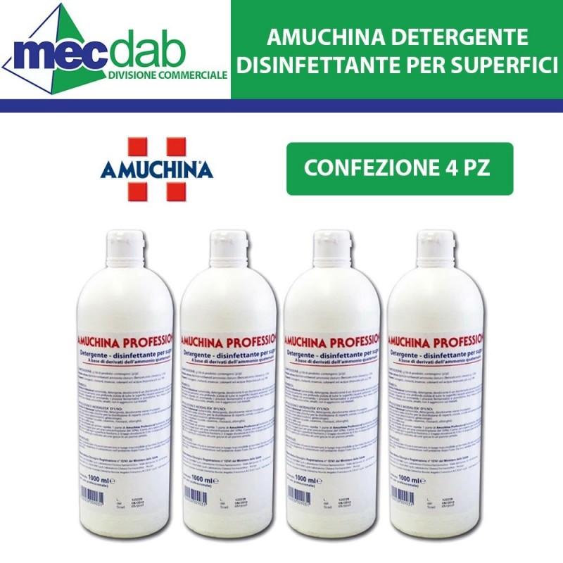 Amuchina Detergente Disinfettante per Superfici 1LT  a Base Ammonio