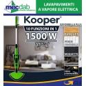 Scopa a Vapore Elettrica Lavapavimenti 1500W 10 in 1 Kooper Vaporbella Plus 550ml