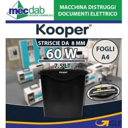 Macchina Distruggi Documenti Elettrico 60W 7,5 Lt Taglio a Strisce 8mm Kooper