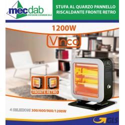 Stufa al Quarzo Pannello Riscaldante Fronte Retro 1200W - Vinco 70158