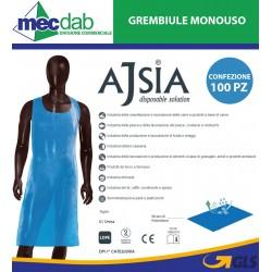 Grembiule Monouso in LDPE 70 x 120 Cm Confezione 100 Pezzi Ajsia 14035