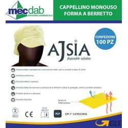 Cappellino Monouso a Berretto in PLP Taglia Unica Ajsia 14536